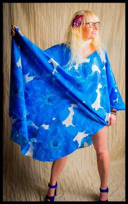 DI Blue Floral Maxi Caftan