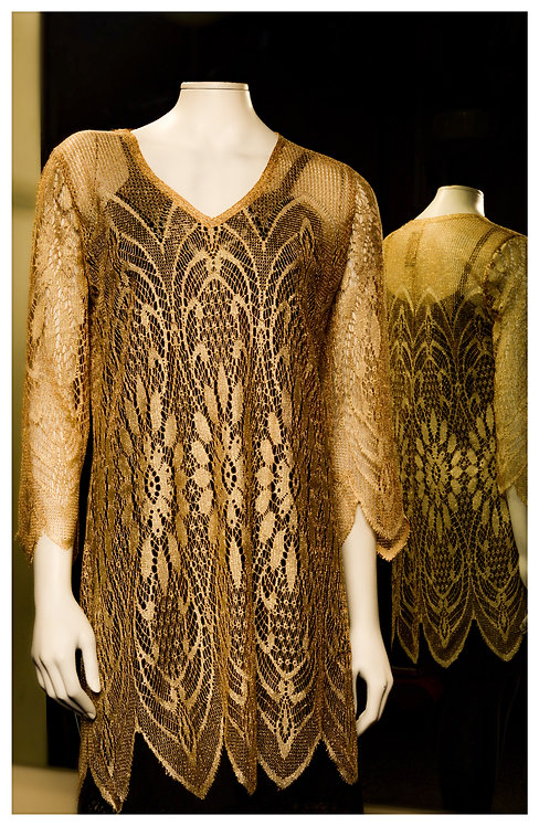Shimmering Gold Lace Tunic