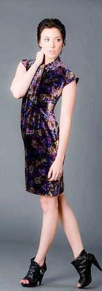 Dress Velvet Multi Purple.JPG