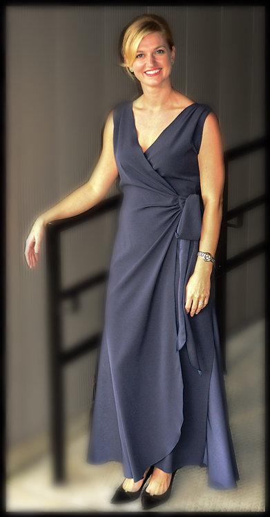 Slate Gray Wrap Dress