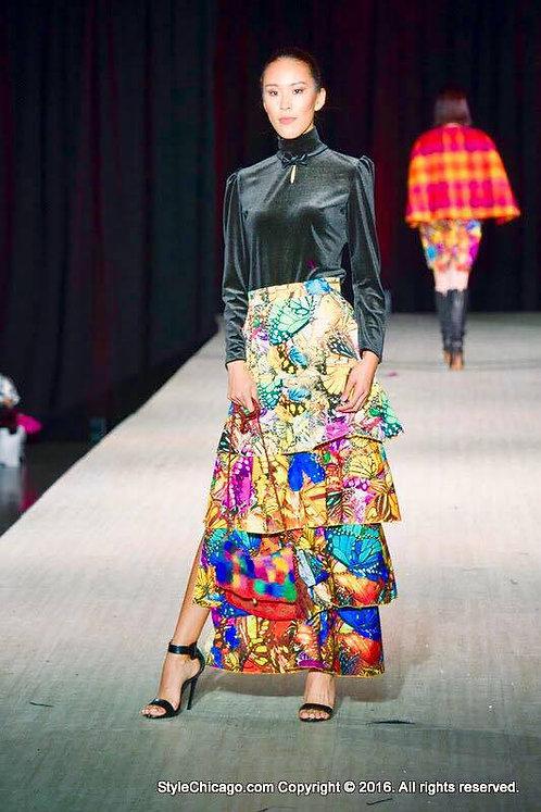 Skirt - Five tier ruffle fiesta skirt