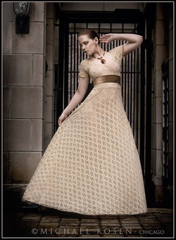 D I Blush Lace Gown
