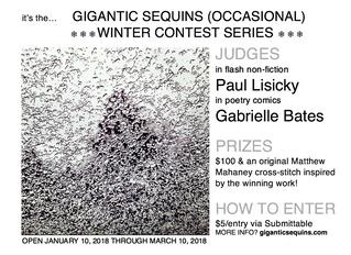 I'm judging the Gigantic Sequins poetry comic contest!
