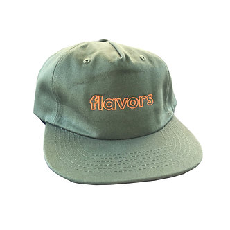 Flavors 6 Panel Hat(olive)