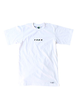Overlap Embroidered Tee (wht)