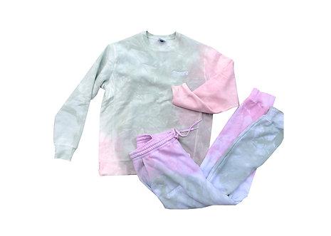 Flavors Tie Dye Sweatsuit (Top +Bottom)