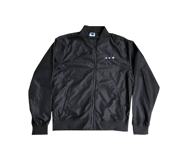 """""""Lover"""" Black Satin Jacket Size Large"""