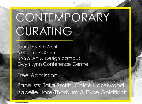 CONTEMPORARY CURATING                                  [panel discussion]