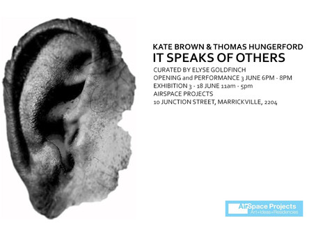 Upcoming Exhibition: It speaks of others