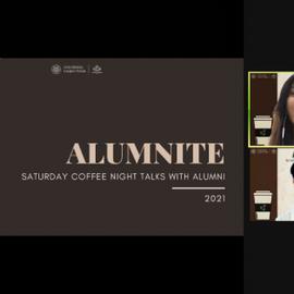 "ALUMNITE 2021""Saturday Night Coffee Talk with Alumni"""