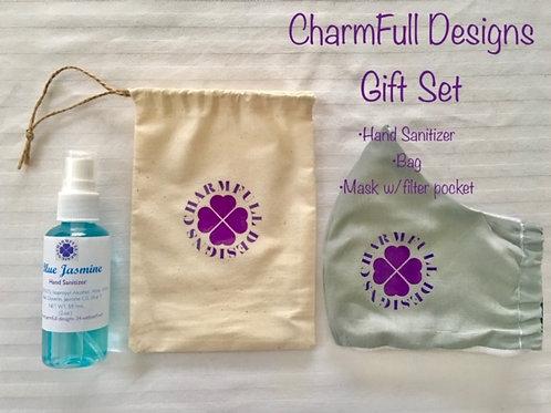 Mask + Hand Sanitizer Gift Set