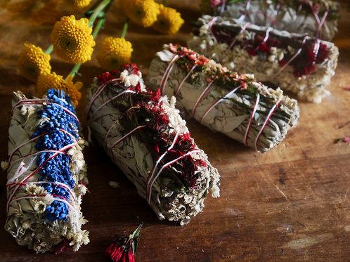 Sage + Panicum milacea + Mullein Flower + Statice