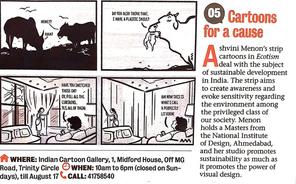 Bangalore Mirror (Mention)  Cartoons For A Cause   5 August 2019