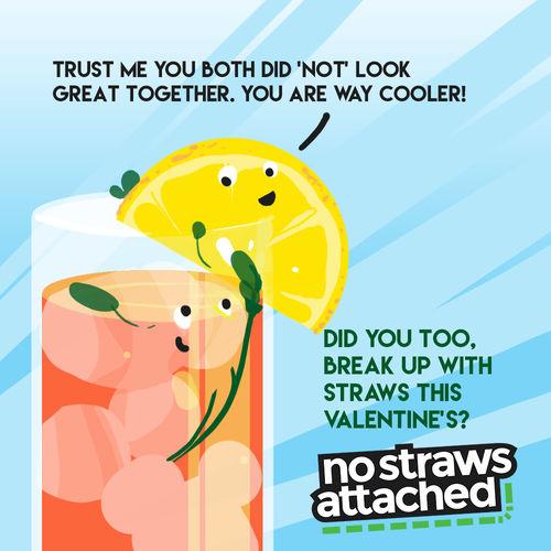 No Straws Attached Social Media Post