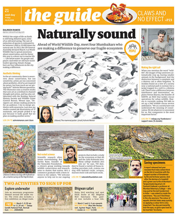 Mid-Day (Story+Interview)   Naturally Sound  1 March 2019  Journalist - Darlreen Ramos