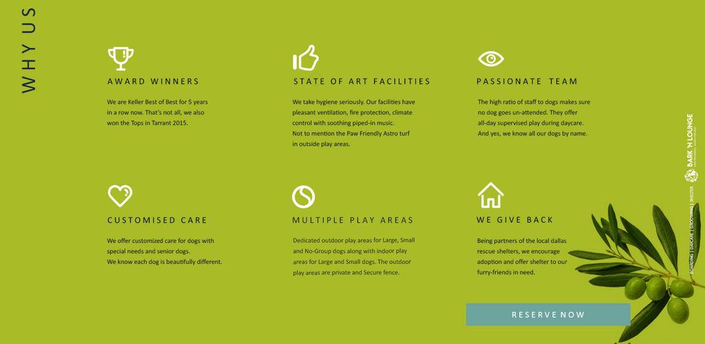 Bark 'N Lounge Website Re-Design