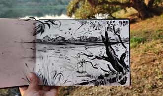 (Dec 28, 2020) On the bank of Bhatsa River