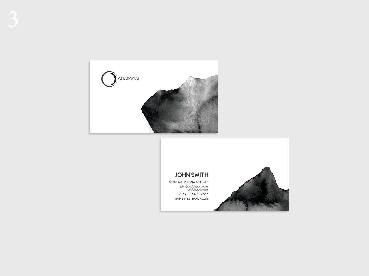 Charcoal Business Card
