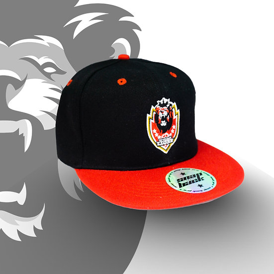 FITZROY LIONS BLACK WITH RED BRIM CAP