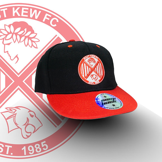 EAST KEW BLACK WITH RED BRIM CAP