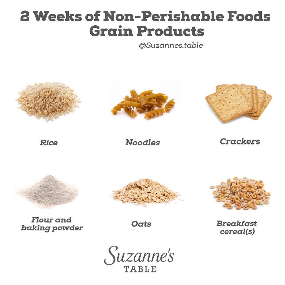 Infographic with pics  non perishable grain products