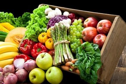 high fibre fruits and vegetables