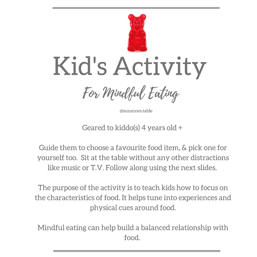Mindful eating kid activity