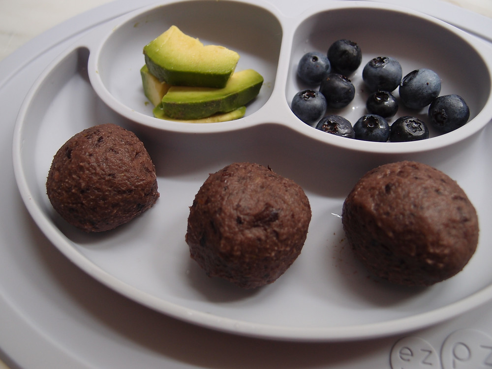 healthy baby bean balls as part of a healthy meal