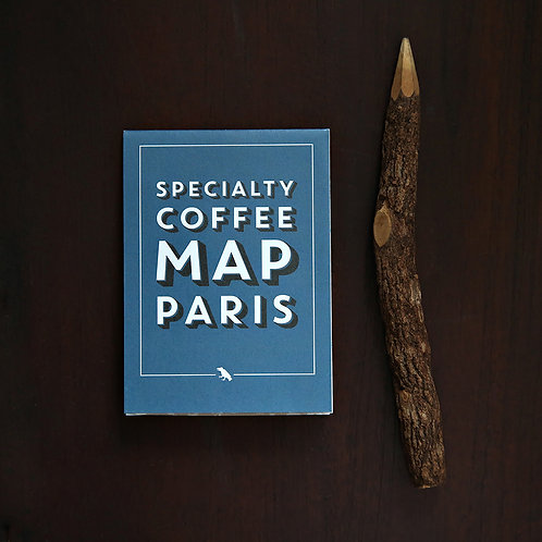 Specialty Coffee Map - Paris ( Folding )