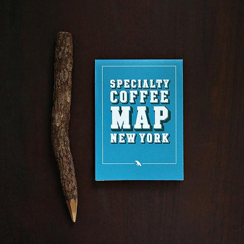 Specialty Coffee Map - New York ( Folding )