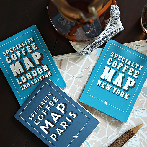 Specialty Coffee Map - City Set of 3 ( Folding )