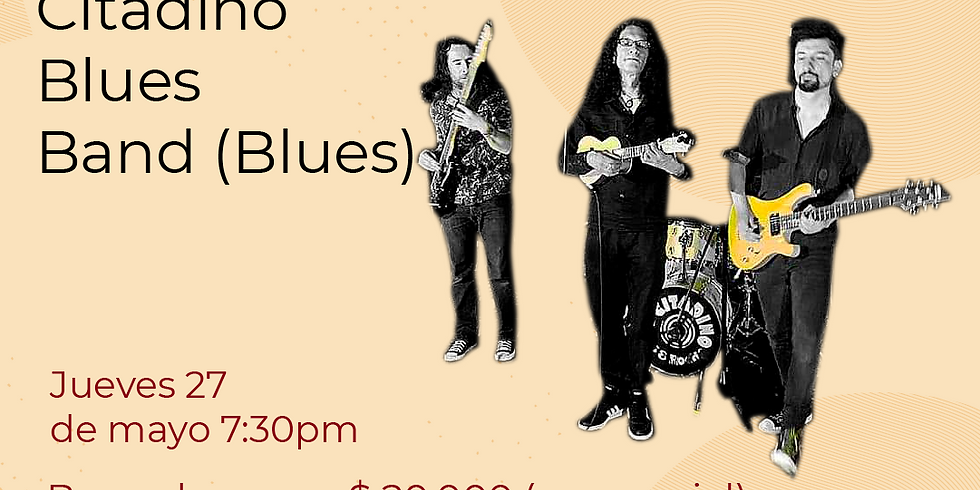 Presencial: Citadino blues band en vivo en el Festival de Blues & Jazz Libélula Dorada 2021 