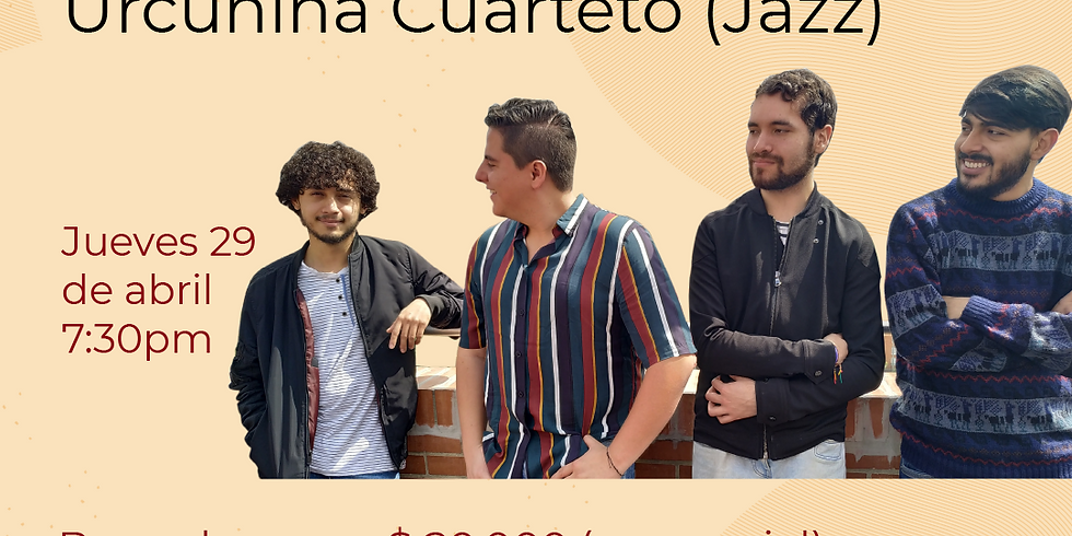 Presencial:  Urcunina Cuartetoen vivo en el Festival de Blues & Jazz Libélula Dorada 2021