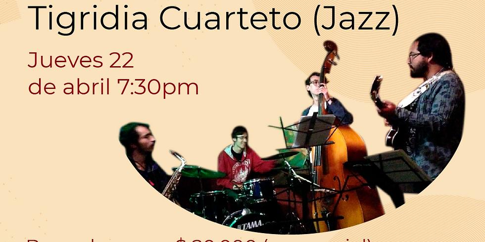 Presencial:  Tigridia Cuarteto en vivo en el Festival de Blues & Jazz Libélula Dorada 2021