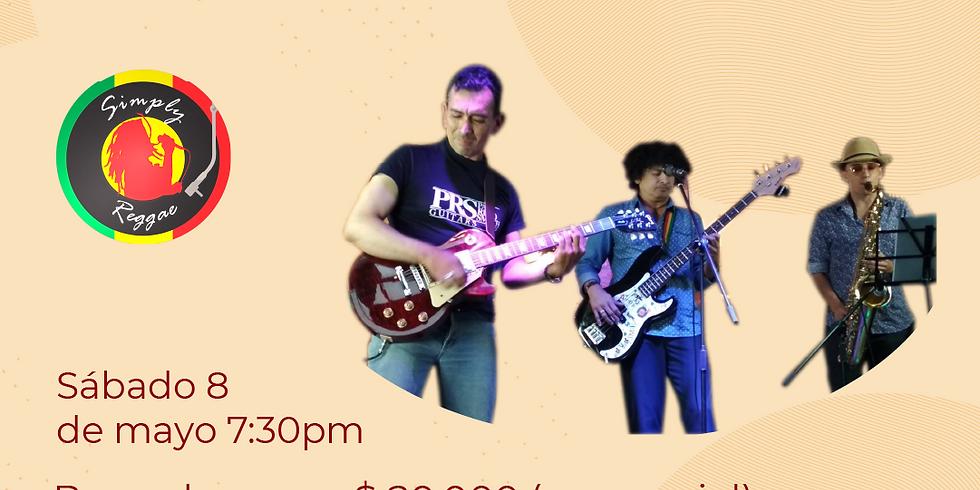 Presencial: Simply Reggae  vivo en el Festival de Blues & Jazz Libélula Dorada 2021|