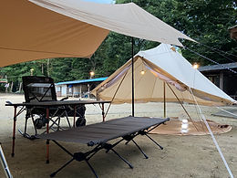 グランピング用テント&機材
