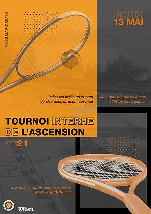 Affiche tournoi interne Ascension - Adul