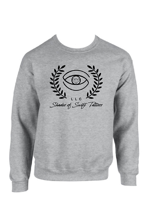 Shades of SwiftTattoos/ Grey Crew Neck Sweatshirts