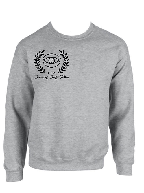 Shades of SwiftTattoos/ Grey Crew Neck Sweatshirts
