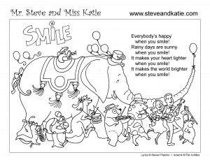 Mr. Steve & Miss Katie (fun music for kids) SMILE COLORING BOOK