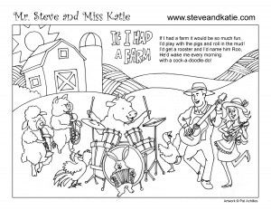 sic for kidsMr. Steve & Miss Katie (fun mu) FARM COLORING BOOK