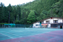 Tennis Courts in the Keihoku forest
