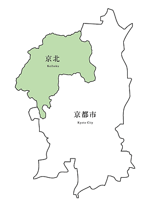 Map of Kyoto and Keihoku