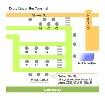 Kyoto JR Bus Terminal Map