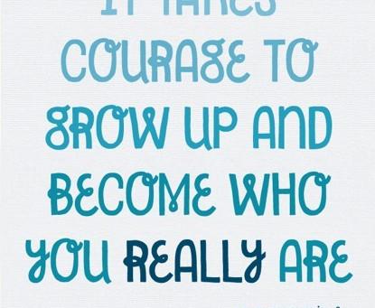 L'art d'être courageux/se