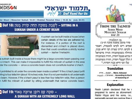 Talmud Israeli, Weekly Kit 406