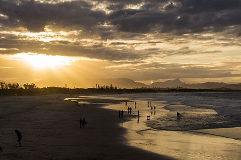 Distance Shot of People on the Beach (2)