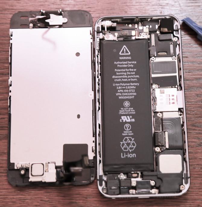 iPhone5Sバッテリー交換してみた。
