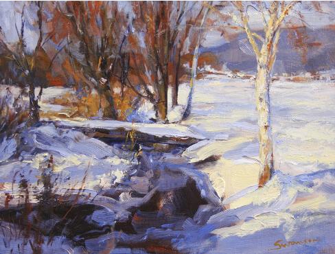 White Birch in Snow