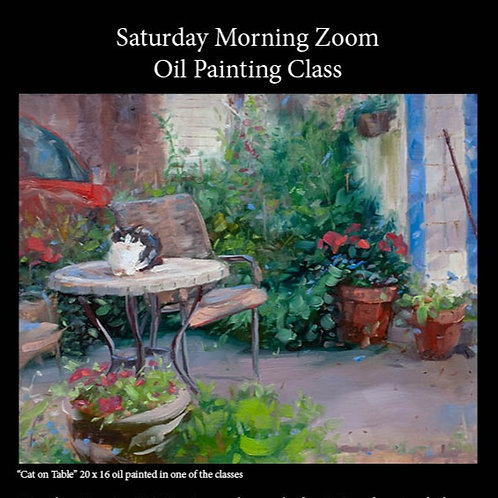 Saturday Morning Online Oil Painting Class 10/3 - 11/21
